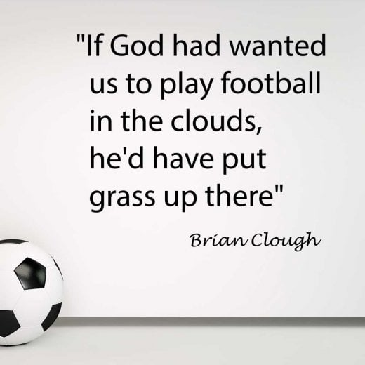 Wall Chimp Brian Clough Football Quote Wall Sticker