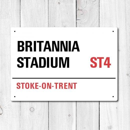 Wall Chimp Britannia Stadium, Stoke-On-Trent Metal Sign