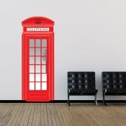 British Red Telephone Printed Wall Sticker