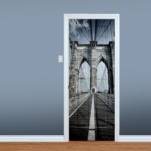 Wall Chimp Brooklyn Bridge New York UV Printed Door