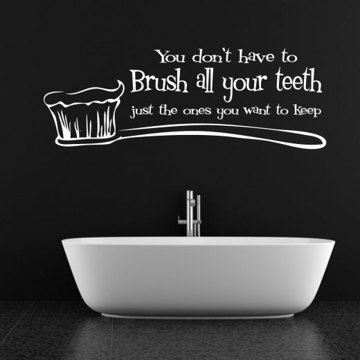 Wall Chimp Brush All Your Teeth Wall Sticker Quote
