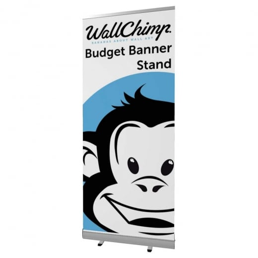 Wall Chimp Budget Banner Stand