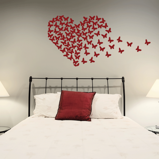 Wall Chimp Butterfly Heart Wall Sticker