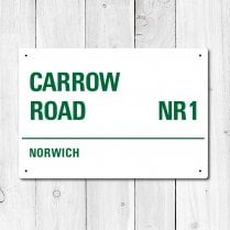 Carrow Road, Norwich Metal Sign