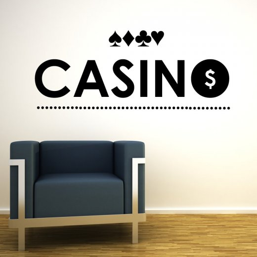 Wall Chimp Casino Cards Wall Sticker