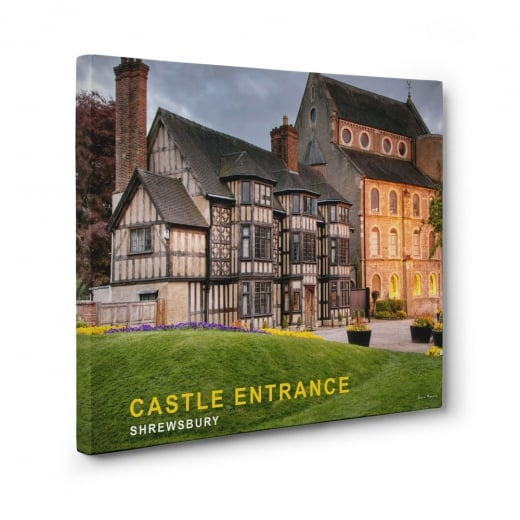 Wall Chimp Castle Entrance - Shrewsbury Canvas Print