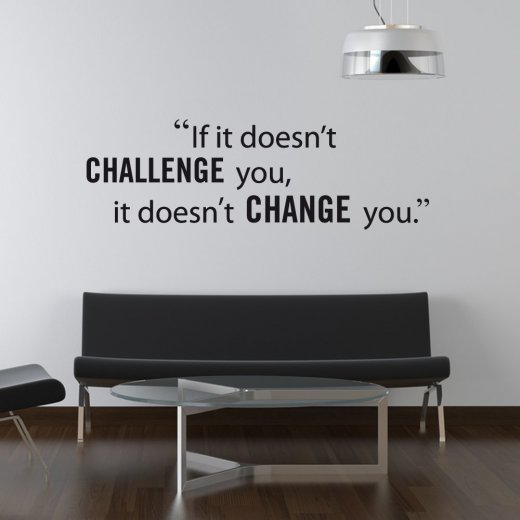 Wall Chimp Challenge Yourself Wall Sticker Quote