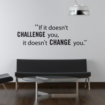 Challenge Yourself Wall Sticker Quote