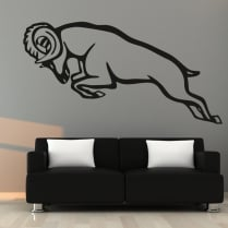 Charging Ram Wall Sticker