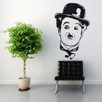 Charlie Chaplin Pose Wall Sticker