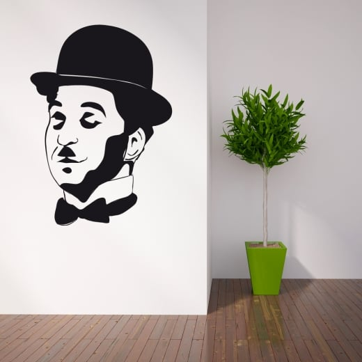Wall Chimp Charlie Chaplin Wall Sticker