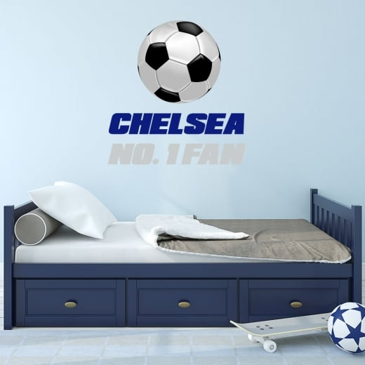 Wall Chimp Chelsea No. 1 Fan Football Printed Wall Sticker