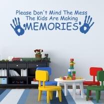 Children Making Memories Wall Sticker Quote