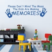 Children Making Memories Wall Sticker Quote