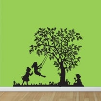 Children Tree Swing Wall Sticker