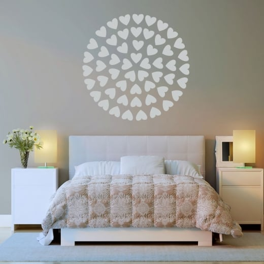 Wall Chimp Circle Of Hearts Wall Sticker
