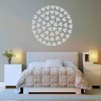 Circle Of Hearts Wall Sticker