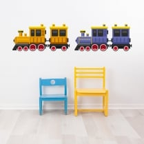 Classic Duel Train Printed Wall Sticker