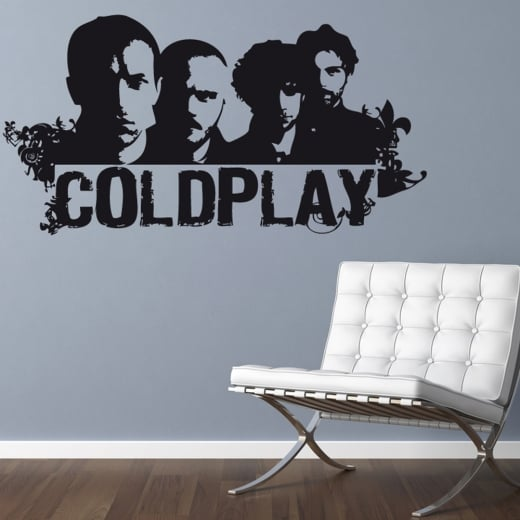 Wall Chimp Coldplay Silhoutte Wall Sticker
