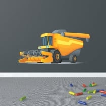 Combine Harvester Printed Wall Sticker