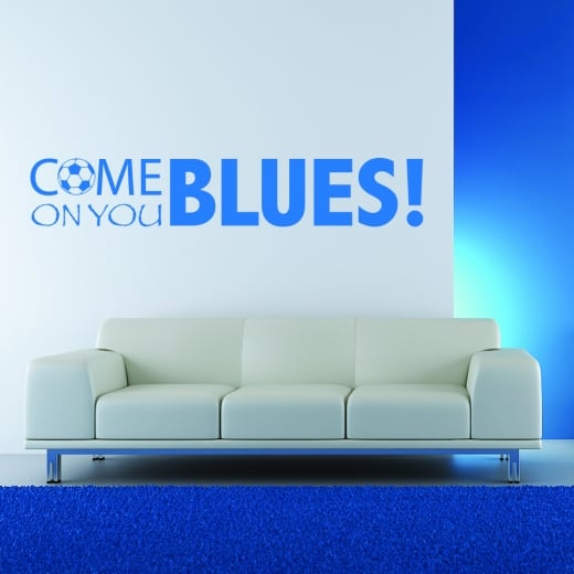 Wall Chimp Come On You Blues Football Wall Sticker