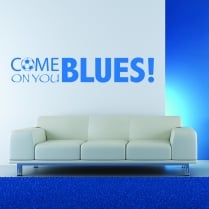 Come On You Blues Football Wall Sticker