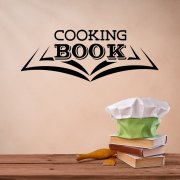 Cooking Book Wall Sticker Quote