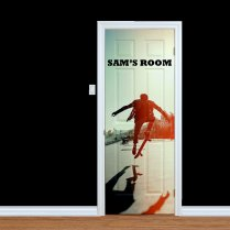 Custom Children's Name Skateboarder Door