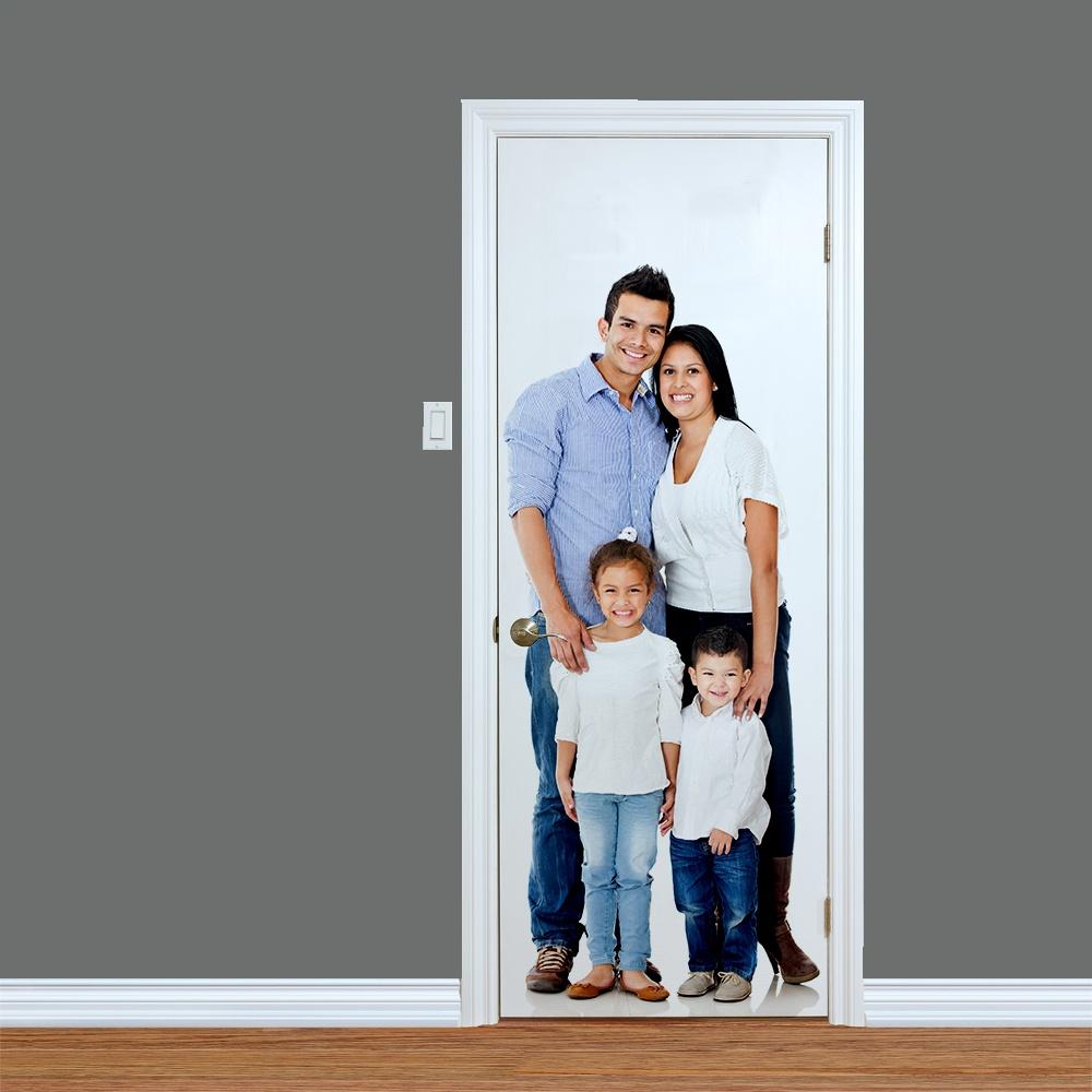 Wall Chimp Custom Printed Family Door  sc 1 st  Wall Chimp & Custom Printed Family Door | Print Your Family Snaps Today