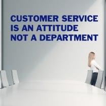 Customer Service Quotation Wall Sticker