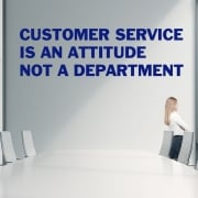 Customer Service Quotation Wall Sticker