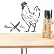 Cuts Of Chicken Wall Sticker
