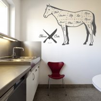 Cuts Of Horse Wall Sticker