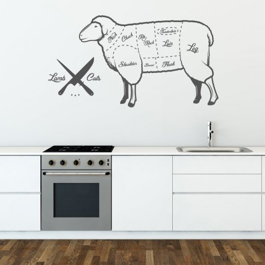 Wall Chimp Cuts Of Lamb Wall Sticker
