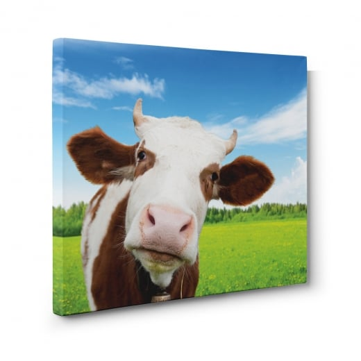 Wall Chimp Daisy The Cow Canvas Print
