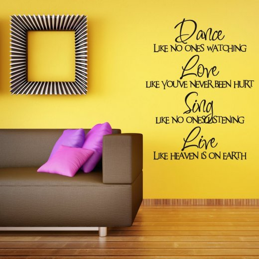 Wall Chimp Dance Love Sing Live Wall Sticker Quote