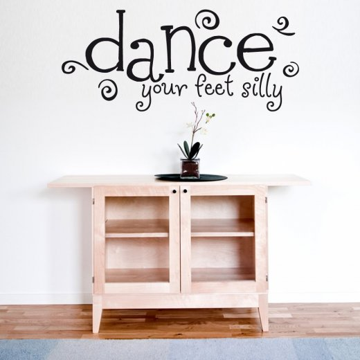 Wall Chimp Dance Your Feet Silly Wall Sticker Quote