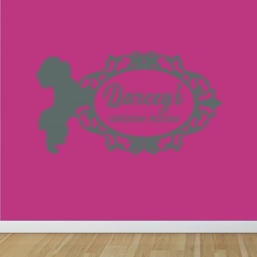 Wall Chimp DARCEY'S GROOM ROOM CUSTOM WALL STICKER ORDER WC810QT
