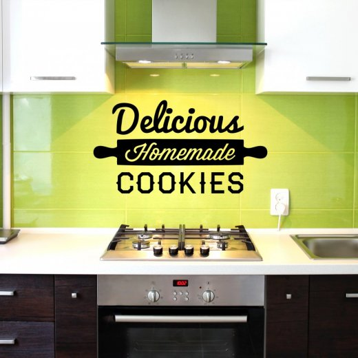 Wall Chimp Delicious Homemade Cookies Wall Sticker Quote