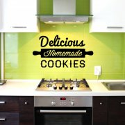Delicious Homemade Cookies Wall Sticker Quote