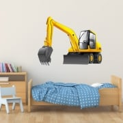 Digger Printed Wall Sticker