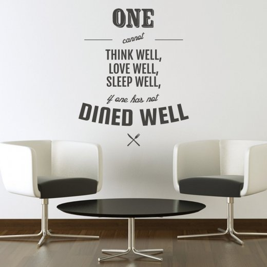 Wall Chimp Dine Well Kitchen Wall Sticker Quote