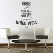 Dine Well Kitchen Wall Sticker Quote