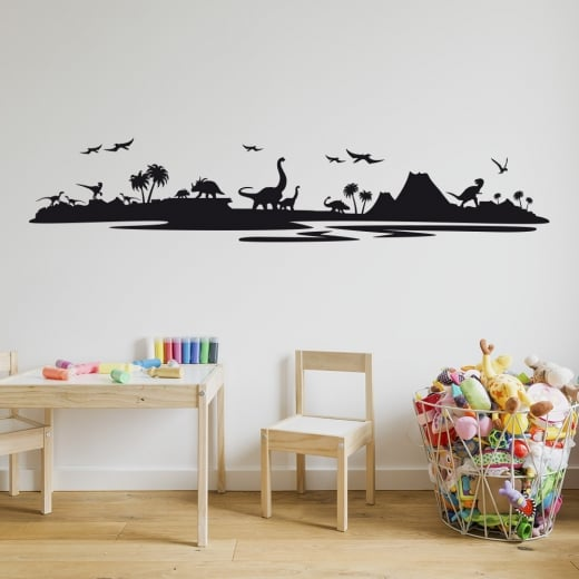 Wall Chimp Dinosaur Landscape Wall Sticker