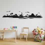 Dinosaur Landscape Wall Sticker