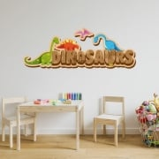 Dinosaurs Printed Wall Stickers