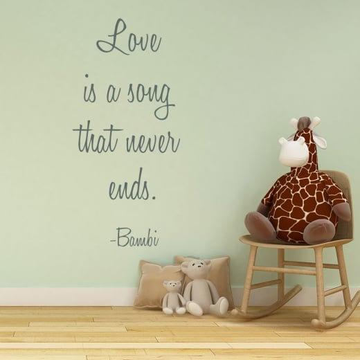 Wall Chimp Disney Bambi Wall Sticker Quote