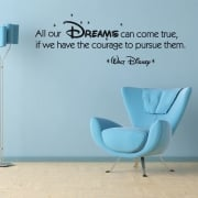 Disney Dreams Wall Sticker Quote