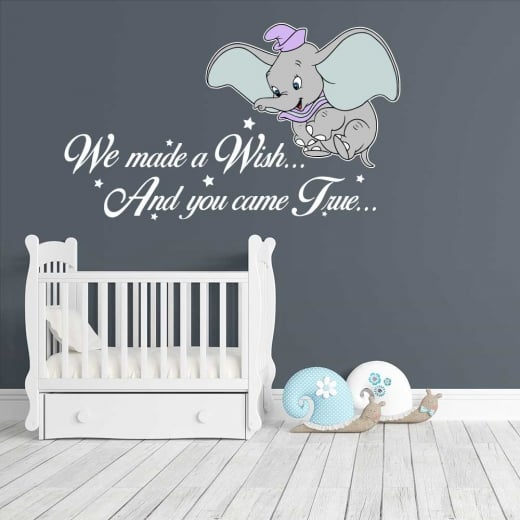 wall chimp disney dumbo wish wall sticker - wall chimp from wall
