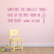 Disney Winnie the Pooh Wall Sticker Quote